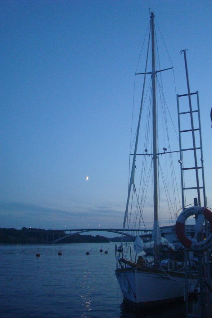 Lever de lune à Stockholm !