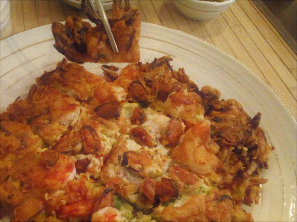 Galette de pommes de terre râpées et de fruits de mer, une entrée surprenante et bien croustillante !