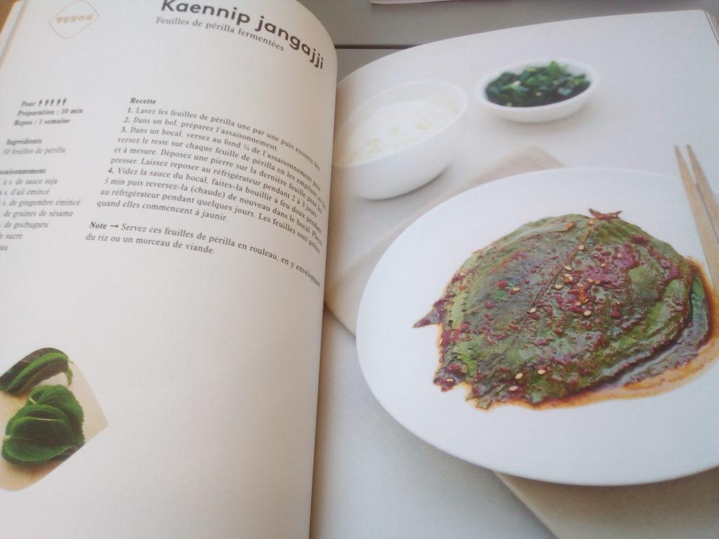 Recette coréenne authentique dans le livre de Fabien Yoon