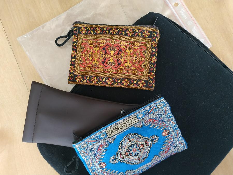 Pochettes de voyage pour ordinateur, lunettes et cosmétiques