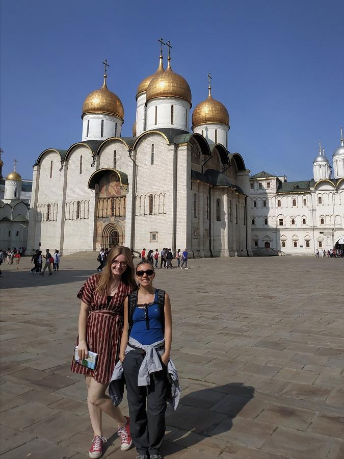 Kathi et moi faisons quasiment le même trajet jusqu'à Pékin ! Avec deux autres copines allemandes, nous avons visité ensemble le Kremlin.