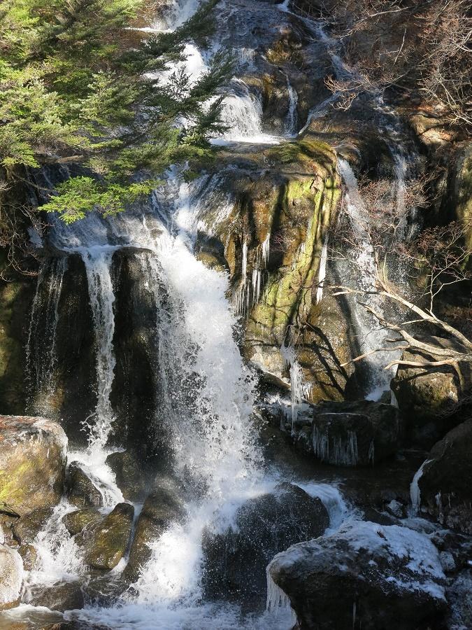 Ma rando a donc commencé au pied de la jolie cascade de Ryuzu. Celle-ci est généralement réputée pour la floraison des buissons d'azalées qui l'entourent mais, en ce début décembre, j'ai surtout pu profiter des premiers stalactites de glace délicats.