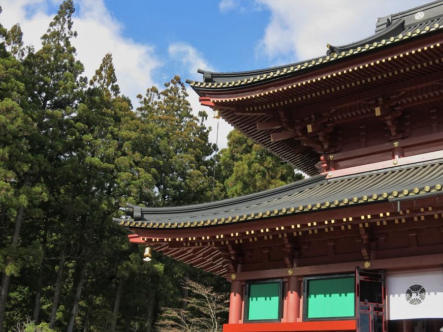 Le bâtiment principal du temple de Rinnô-ji est un exemple fidèle du type d'architecture utilisé pour construire les temples bouddhistes japonais au XVIIe siècle. Aujourd'hui, on y célèbre encore tous les cultes bouddhistes.