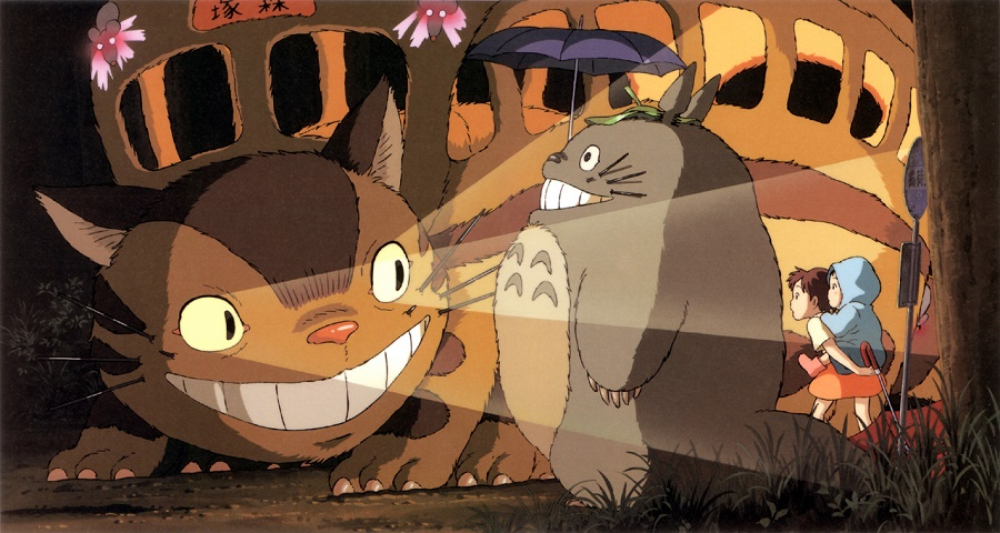 """© Studios Ghibli. Pour ceux qui ne connaissent pas, le Chat-Bus est un personnage du fameux dessin animé de Hayao Miyazaki, sorti en 1988 et cultissime au Japon : """"Mon Voisin Totoro"""". Un film que j'affectionne particulièrement, car il transcrit à merveille l'atmosphère douce et nostalgique du Japon rural."""